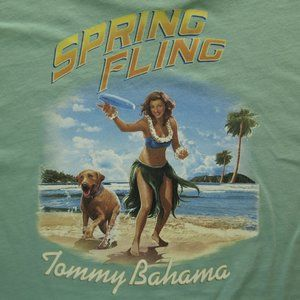 Tommy Bahama - Spring Fling Green SS Tee M NEW